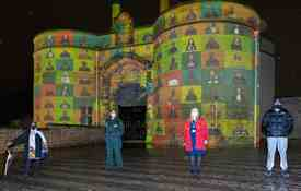 Photo 3. Participants (L R) Panya Banjoko, Rosea Poynter, Juliet Wright And Suleman Salim At Nottingham's In Your Face, Illuminating Nottingham Castle. Photo Credit